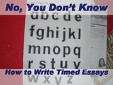 How to Write (Timed) Essays