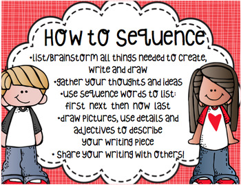 How to Write Using Sequence Words Pack - {first, next and last printables}
