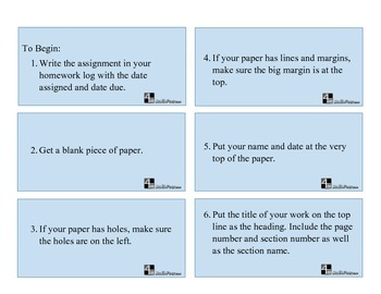 How to Write Your Math Homework - Printable Cards