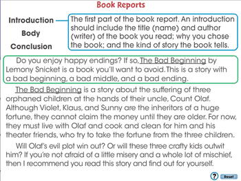 How to Write a Book Report: Book Reports - MAC Gr. 5-8