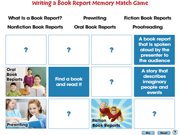 How to Write a Book Report: Memory Match Game - PC Gr. 5-8