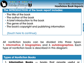 How to Write a Book Report: Nonfiction Book Reports - NOTEBOOK Gr. 5-8