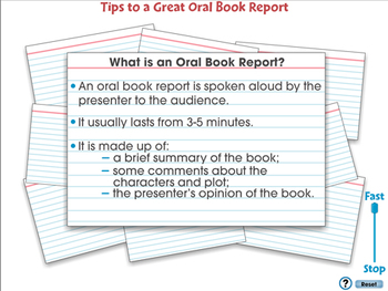 How to Write a Book Report: Oral Book Reports - PC Gr. 5-8