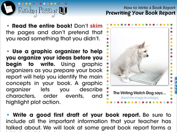 How to Write a Book Report: Prewriting Your Book Report - NOTEBOOk Gr. 5-8