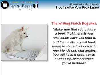 How to Write a Book Report: Proofreading Your Book Report - PC Gr. 5-8