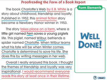 How to Write a Book Report: Proofreading the Form of a Book Report - NOTEBOOK