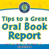 How to Write a Book Report: Tips to a Great Oral Book Report-NOTEBOOK Gr. 3-8
