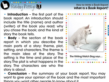 How to Write a Book Report: What Is a Book Report? - NOTEBOOK Gr. 5-8