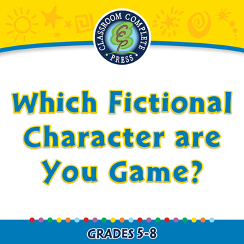 How to Write a Book Report: Which Fictional Character are You Game? - PC