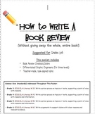 How to Write a Book Review Packet