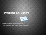 How to Write a Characterization Essay powerpoint and lecture