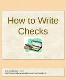 How to Write a Check