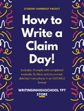 How to Write a Claim Statement Group Activity