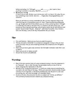 How to...Write a Comparative Essay
