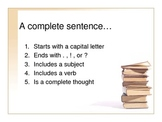 How to Write a Complete Sentence