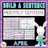 Sentence Writing Center Activities---April Edition