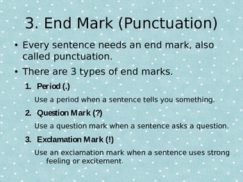 How to Write a Complete Sentence Power Point
