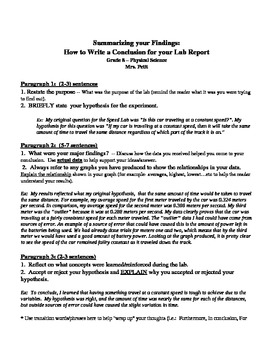 How To Write A Conclusion For A Lab Report By Ms Science Spot  Tpt