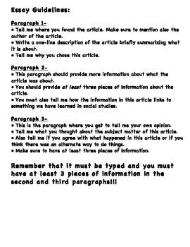 How to Write a Current Events Essay/ Current Events Essay Guidelines