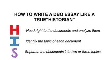 How to Write a DBQ Essay