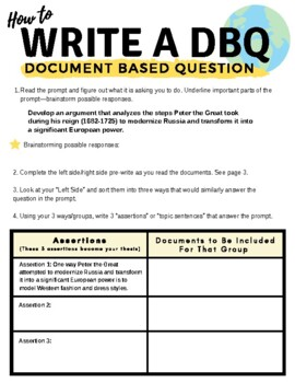 How to Write a DBQ in AP World History, AP US History, or AP European History