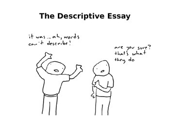 How to Write a Descriptive Essay PPT for high school students