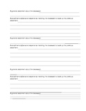 How to Write a Eulogy worksheet