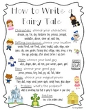 How to Write a Fairy Tale- Fairy Tales Graphic Organizer