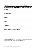 How to Write a Fiction Summary