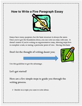 Basic Five Paragraph Essay Mini Lesson