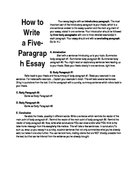 How to Write a Five-Paragraph Expository Essay