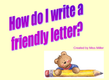 How to Write a Friendly Letter PowerPoint