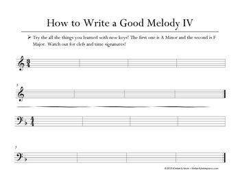 How to Write a Good Melody in 5 lessons