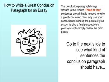 what should go in a conclusion