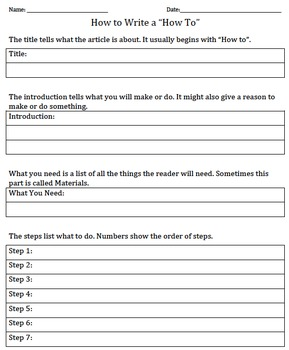 "How to Write a ""How To"" Article"