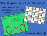 """How to Write a Letter """"d"""" poster and desk cards"""