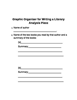 How to Write a Literary Analysis