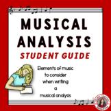 Music Appreciation: Music Listening: Music Analysis Student Guide