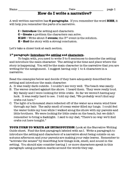 How to Write a Narrative Common Core / TNReady Aligned