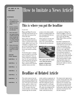 How to Write a News Article Handout