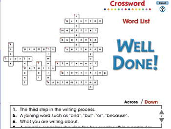 How to Write a Paragraph: Crossword - NOTEBOOK Gr. 5-8