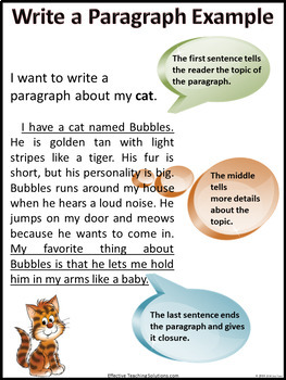 how to write a paragraph step by step