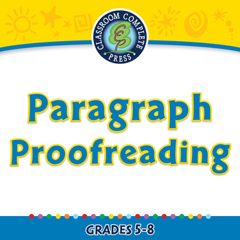 How to Write a Paragraph: Paragraph Proofreading - NOTEBOOK Gr. 5-8
