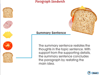 How to Write a Paragraph: Paragraph Sandwich - NOTEBOOK Gr. 5-8