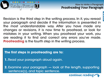 How to Write a Paragraph: Proofreading Your Paragraph - NOTEBOOK Gr. 5-8