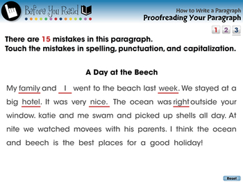 How to Write a Paragraph: Proofreading Your Paragraph - PC Gr. 5-8