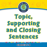 How to Write a Paragraph: Topic, Supporting and Closing Sentences - PC GR. 5-8