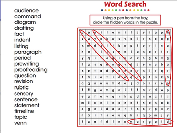 How to Write a Paragraph: Word Search - MAC Gr. 5-8