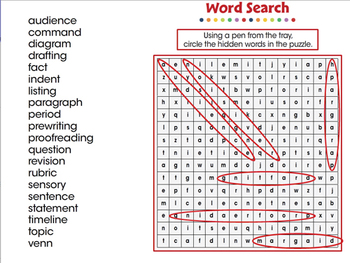 How to Write a Paragraph: Word Search - NOTEBOOK Gr. 5-8