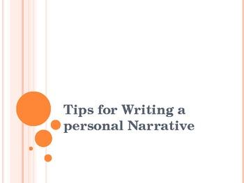 How to Write a Personal Narrative presentation